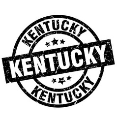 Kentucky black round grunge stamp vector