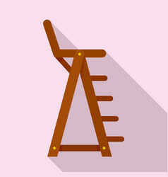 lifeguard beach chair icon flat style vector image
