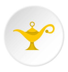 Magic lamp icon circle vector
