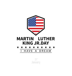 martin luther king day in flat style vector image