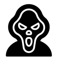 Masked murderer avatar halloween costume icon vector