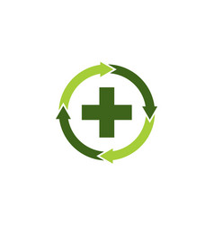 medical health solutions center vector image