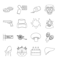 Medicineorgan art and other web icon in outline vector