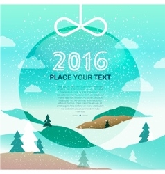 Merry Christmas 2016 background vector image