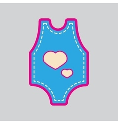 Modern flat icon with stylish background baby vector