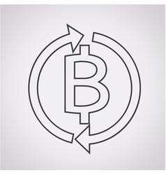 money thai bath icon vector image