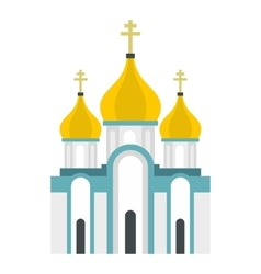 Orthodox church icon flat style vector image
