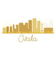 Osaka City skyline golden silhouette vector