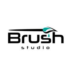 Painting brush logo vector