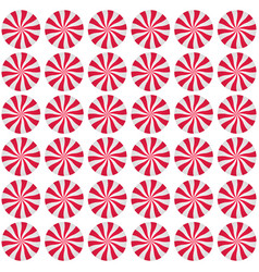 Peppermint cream candies background spiral red vector