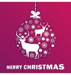 Purple and pink Christmas ball EPS 8 vector image
