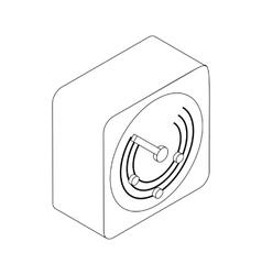 Radio location icon isometric 3d style vector image