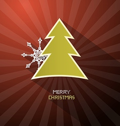 Retro Merry Christmas Dark Red Background With vector