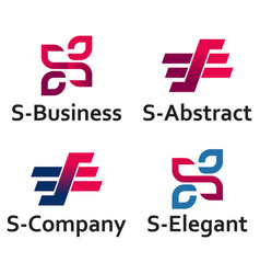 s letter abstract business logo template vector image