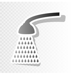 shower simple sign new year blackish icon vector image