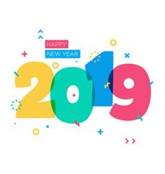 Simple modern fun happy new year greetings vector