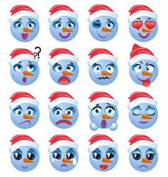 Snowman emoji emoticon expression vector