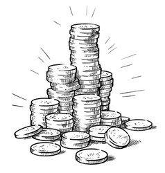 Stacks coins vector