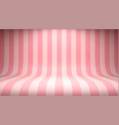 striped candy pink studio backdrop vector image