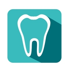 Teeth dental care isolated icon vector