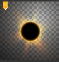 total solar eclipse on vector image