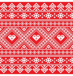 Traditional Ukrainian or Belarusian folk art white vector image