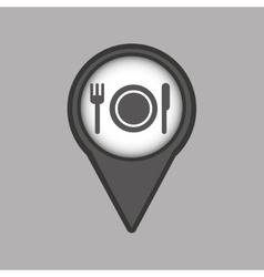 Travel concept location map restaurant design vector