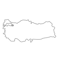 Turkey map icon line vector