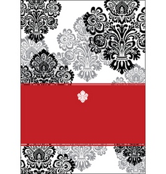 vector black and red background and white frame vector image