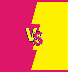Versus letters or vs battle fight competition vector