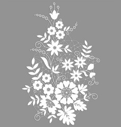 White floral lace vector