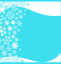 winter background abstract snowflakes design vector image