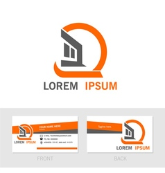 Business contact card back and front vector image