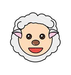 cute sheep drawing animal vector image