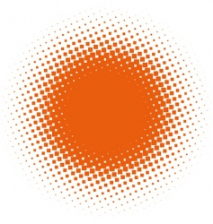 halftone design element vector image vector image