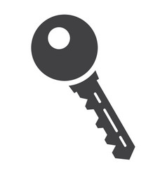 key solid icon security and password vector image vector image
