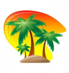 palm island logo vector image vector image