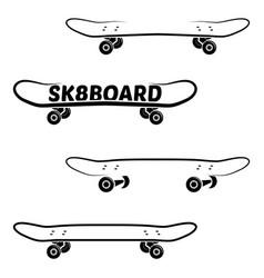 skate board logo template vector image vector image
