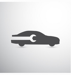 wrench and car icon vector image