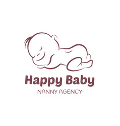 baby logo template for nanny agency vector image