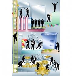 business machine business concept illustration vector image