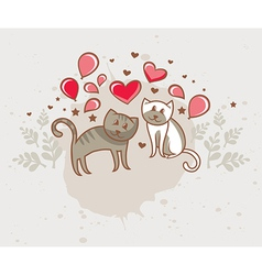 greeting card love vector image vector image