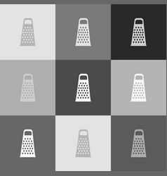 cheese grater sign grayscale version of vector image vector image