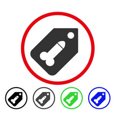 Dildo tag rounded icon vector