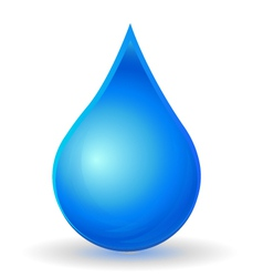 Drop of water with vivid color vector image