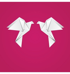 Origami pigeons vector image