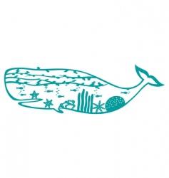 sea world whale vector image