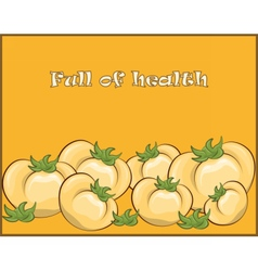 Yellow tomatoes composition vector image vector image