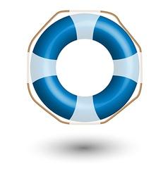 Blue life buoy vector