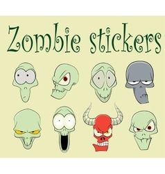 Characters of funny zombies vector image vector image
